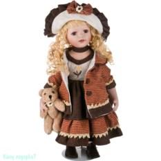Фарфоровая кукла, высота 50 см