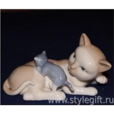 Статуэтка Кошка с котенком
