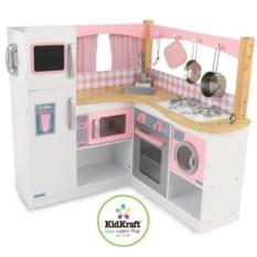 Детская кухня из дерева для девочек Изысканный уголок