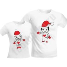 Новогодние футболки для двоих Love is..