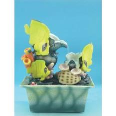 Фонтан с помпой Тропический рыбки