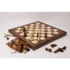 Подарочный набор игр шахматы, нарды и шашки