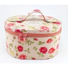 Бело-розовая шкатулка для ювелирных украшений