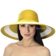 Желтая широкополая пляжная шляпа Del Mare