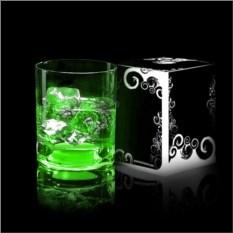 Зеленый светящийся бокал для виски GlasShine