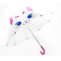 Детский зонт трость Белая кошечка