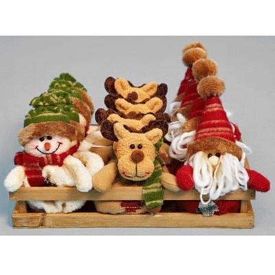 Подвески Санта, снеговик, лось