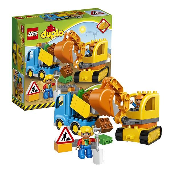 Конструктор Lego Duplo Грузовик и гусеничный экскаватор