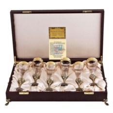 Набор бокалов для шампанского в футляре Богемия (6 штук)