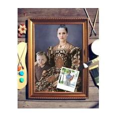 Парный портрет по фото Мама с ребенком