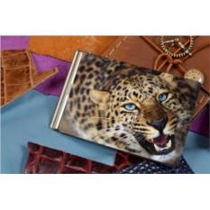 Зажим для денег с принтом Морда леопарда