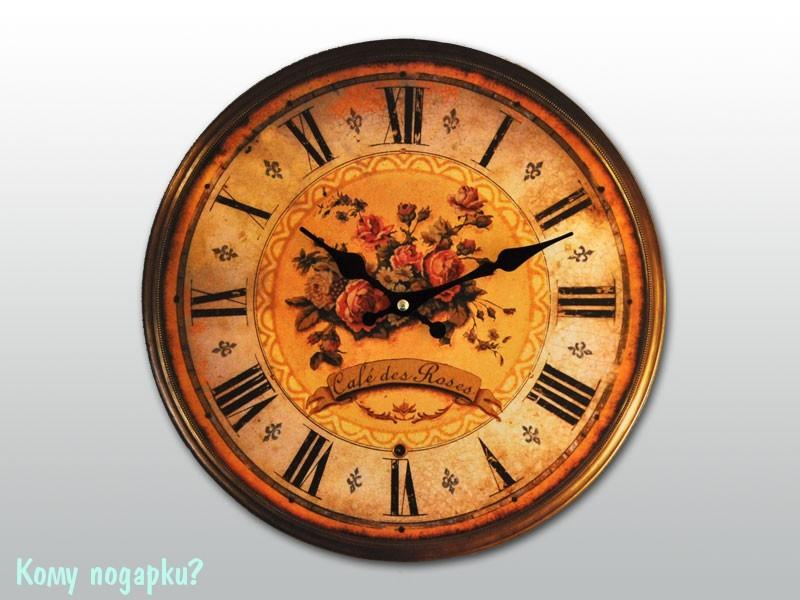 Часы настенные с рисунком «Розы»