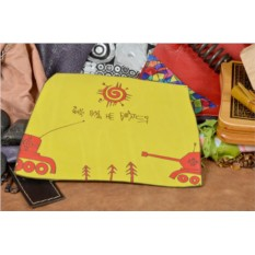Кожаный желтый коврик для мышки Altamira