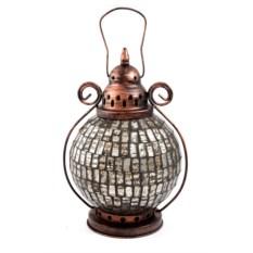 Серебристый декоративный фонарь