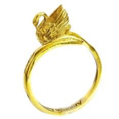 Кольцо-тотем Лебедь, золото 585