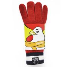 Шерстяные сенсорные перчатки С нави-белыми полосками