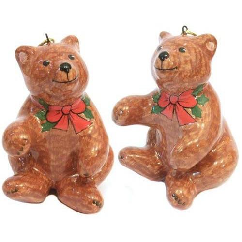 Ёлочная игрушка Медвежонок с бантом