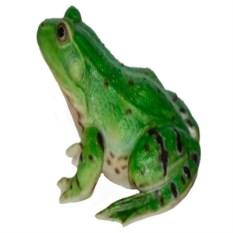 Декоративная садовая фигура Зеленая лягушка