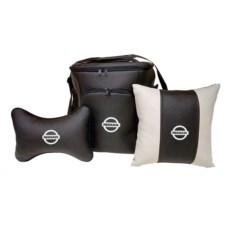 Набор из термосумки, подушки-подголовника и подушки Nissan