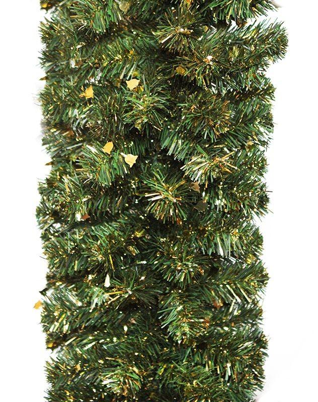 Гирлянда Рождественская, с золотой мишурой,  2,7 м