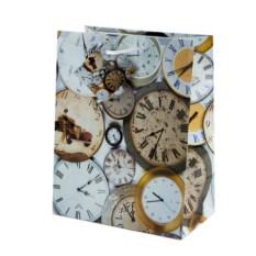 Бумажный ламинированный пакет Часы