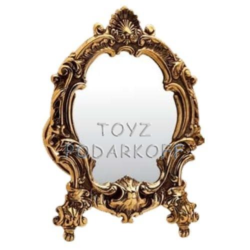 Настольное бронзовое зеркало