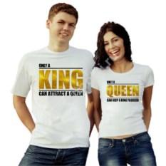 Парные футболки King, Queen