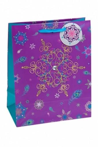 Модный новогодний пакет для подарков