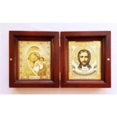 Складень с образами Христа и Божьей матери
