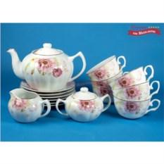 Чайный сервиз на 6 персон Пионы