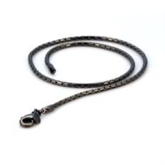Цепочка из металлического сплава с черным лаком