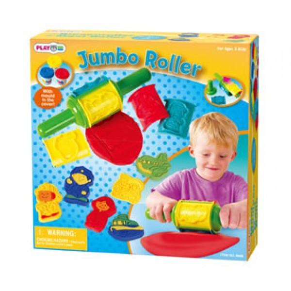 Игровой набор с пластилином и валиком Playgo