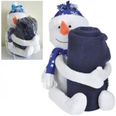 Плед с игрушкой Снеговик