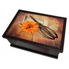 Ларец-шкатулка Оранжевый Цветок