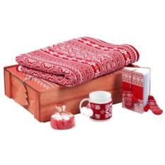 Красный подарочный новогодний набор «Уютный зимний вечер»