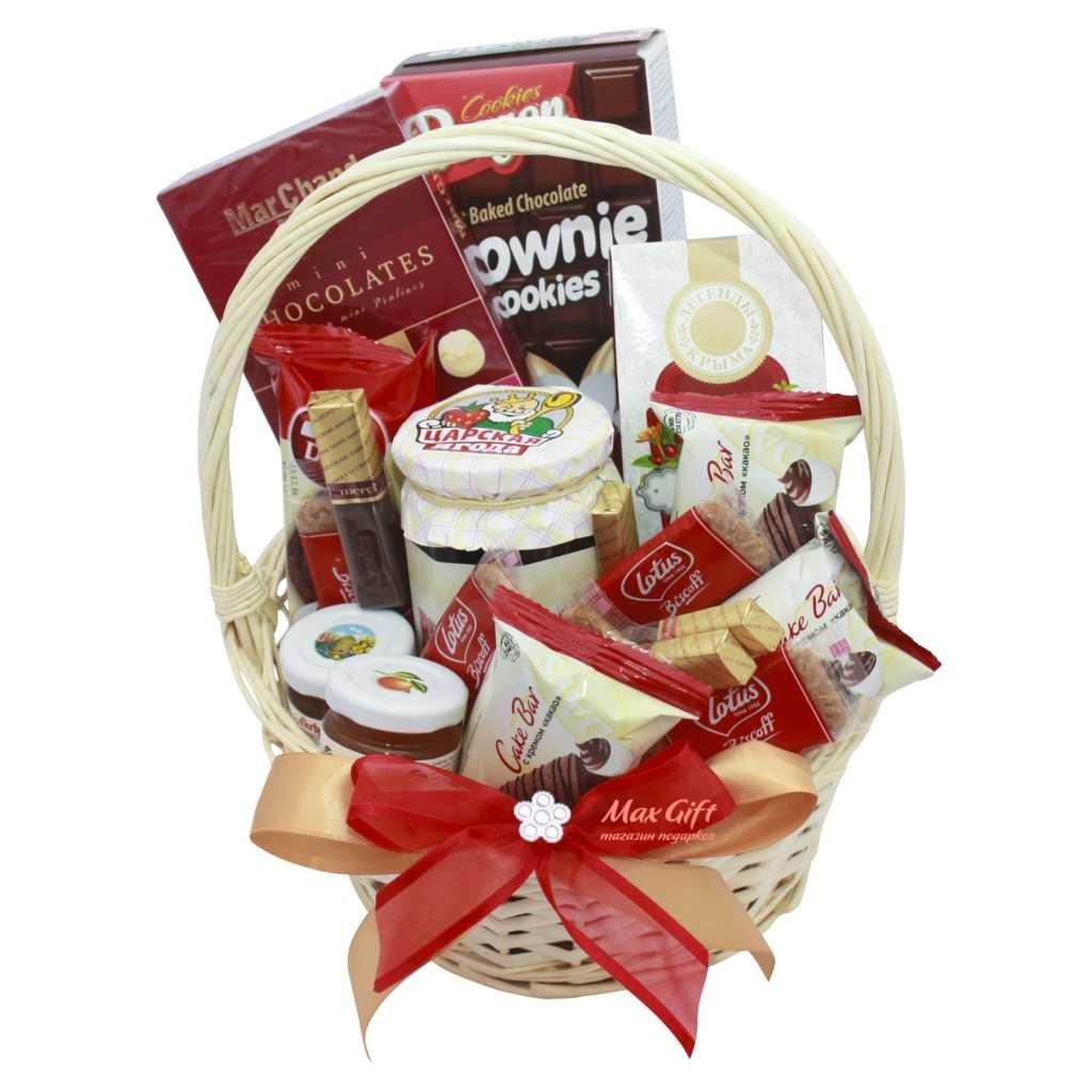 Подарки в корзинках с чаем 12