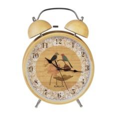 Настольные часы с будильником Птички