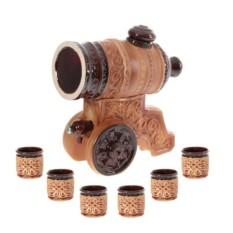 Бочка для вина с рюмками Пушка (3 л.)