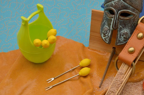 Набор для канапе Фрукты (лимон)