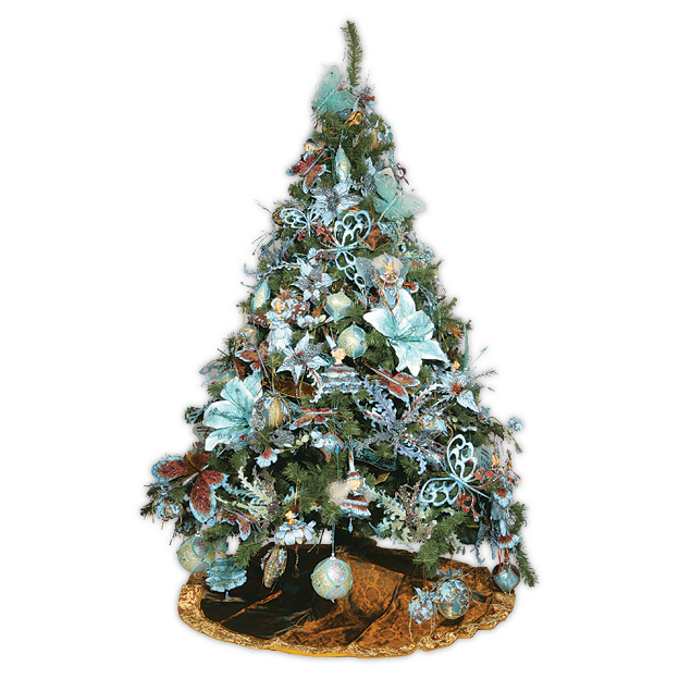 Ёлка эксклюзивная CHRISTMAS BROWN & LIGHT BLUE