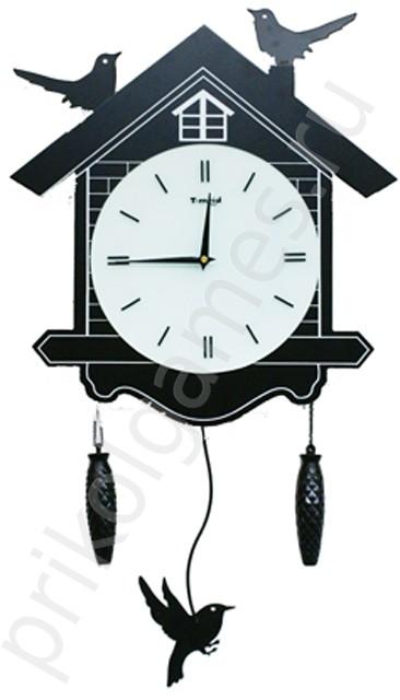 Часы настенные с кукушатами и маятником