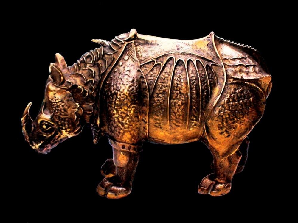 Скульптура Бронзовый носорог Дюрера