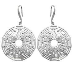 Серьги Солнце, серебро 925