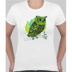 Женская футболка Зеленая сова