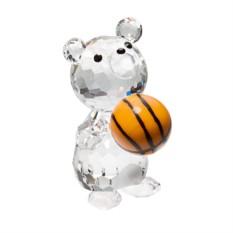 Хрустальная статуэтка Медвежонок-баскетболист