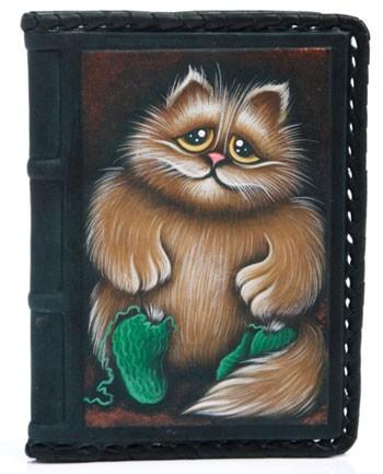 Обложка для автодокументов Котик