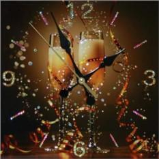 Картина Часы Брызги шампанского