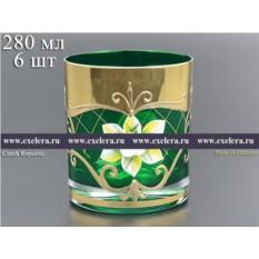 Набор стаканов для виски Лепка зеленая