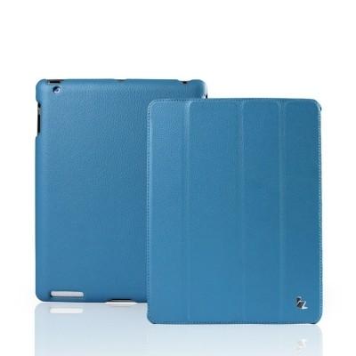 Кожаный чехол Jison Smart case blue