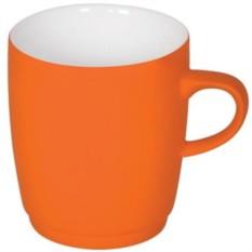 Оранжевая кружка Soft с прорезиненным покрытием